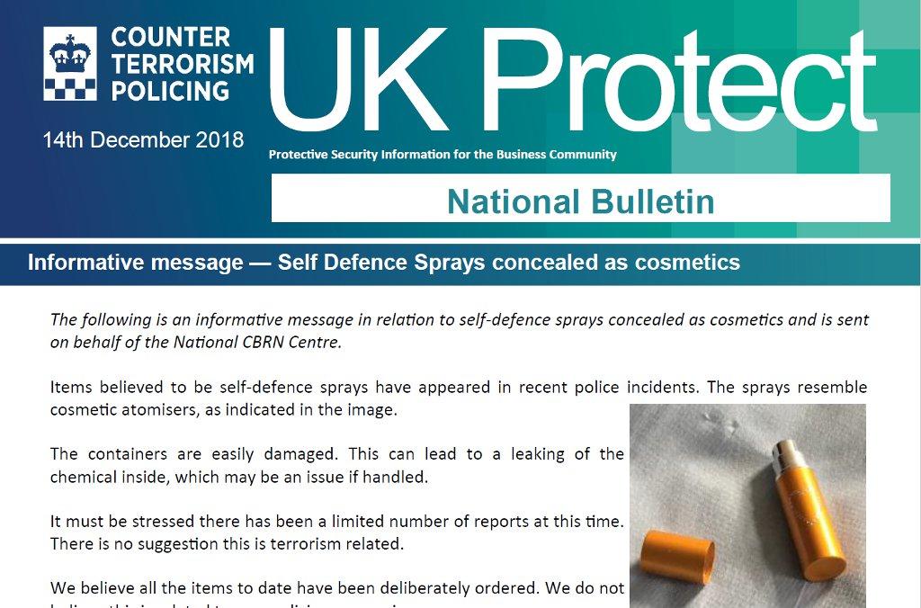 UK Protect National Bulletin December 2018