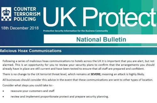 UK Protect National Bulletin 18 Dec 2018