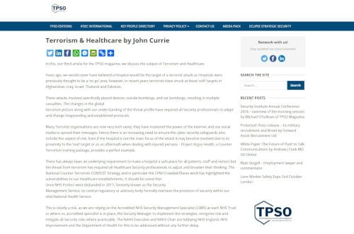 Terrorism and Healthcare by John Currie