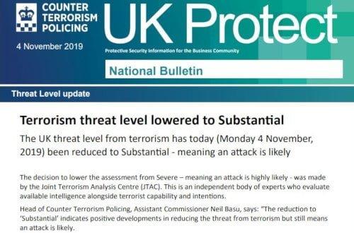 UK Protect Bulletin November 4th 2019