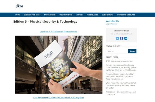 TPSO - Physical Security & Technology