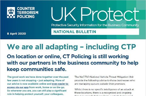 UK Protect Bulletin 08-04-2020