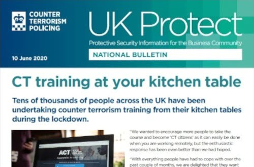 UK Protect CT Training at Your Kitchen Table